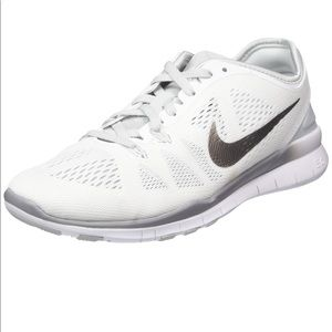 Nike Free Women's 5.0 TR Fit 5 White Silver Shoes